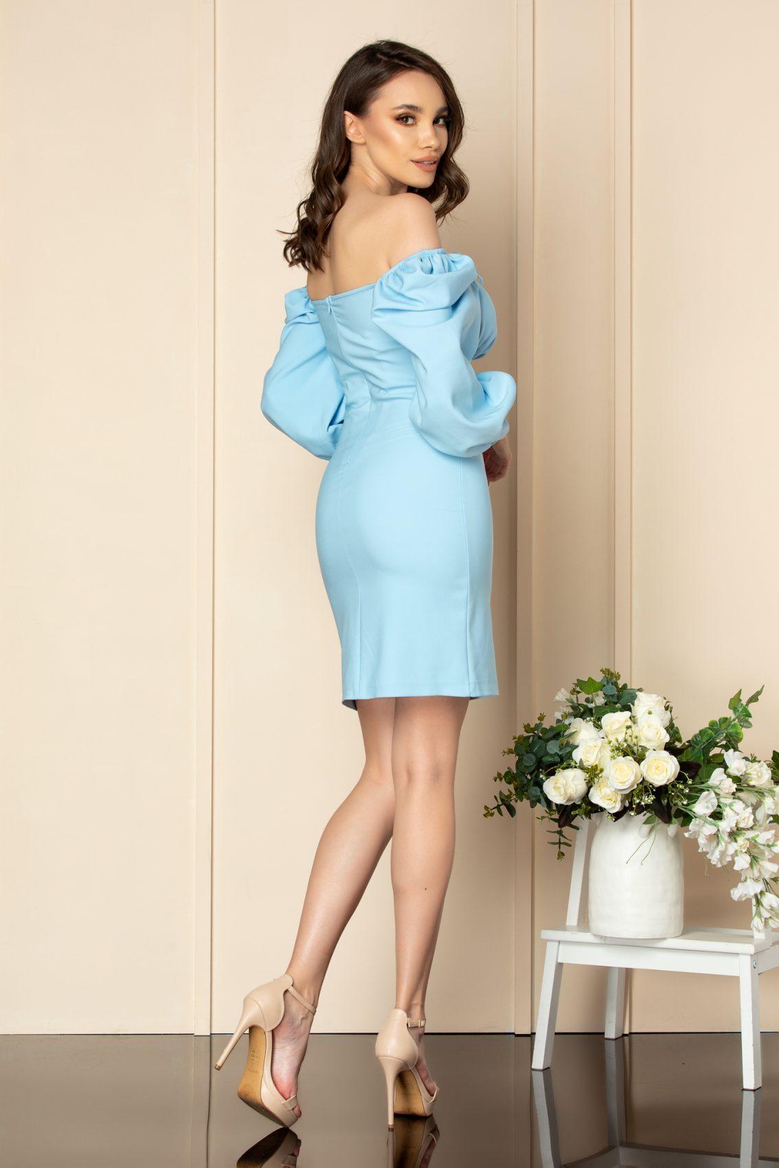 Γαλάζιο Φόρεμα Sabina A547 3
