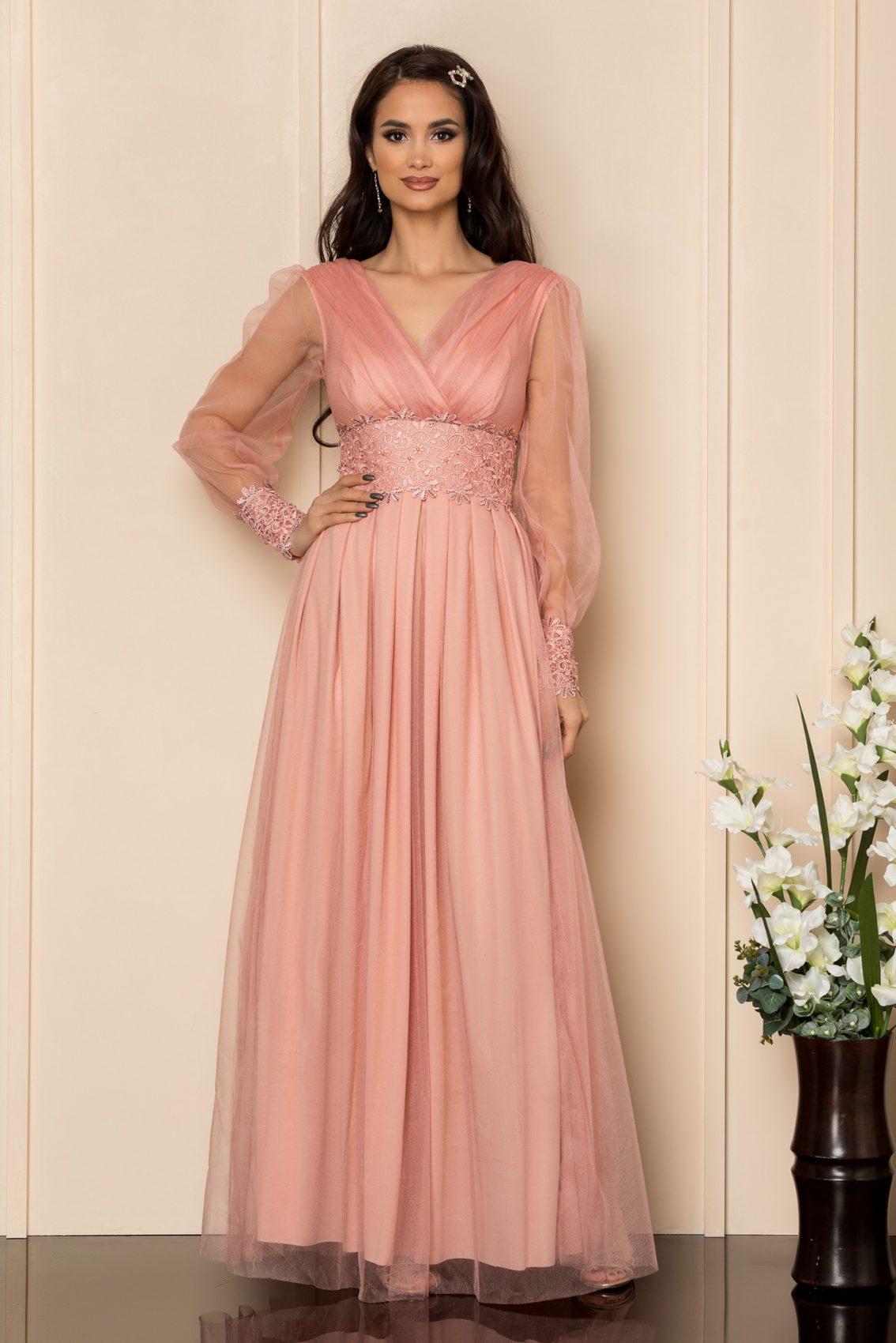 Ροζ Μάξι Φόρεμα Με Δαντέλα Festina A313 1