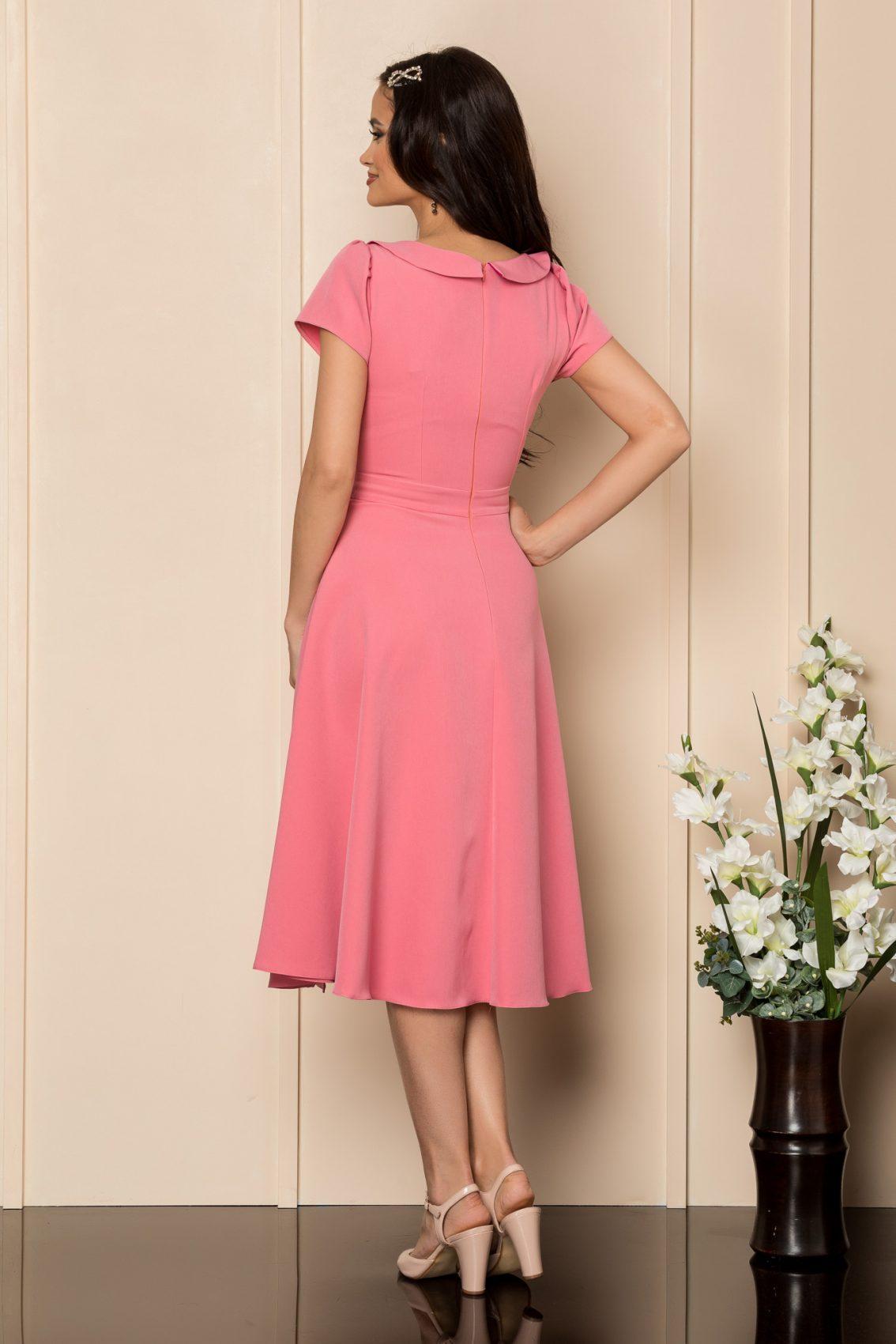 Ροζ Μίντι Κλος Φόρεμα Asha A372 2