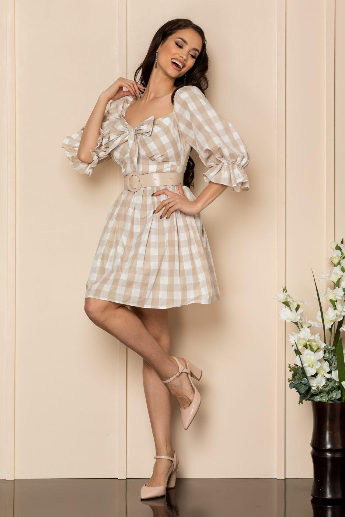 Nude Καρό Φόρεμα Mavis A430 1