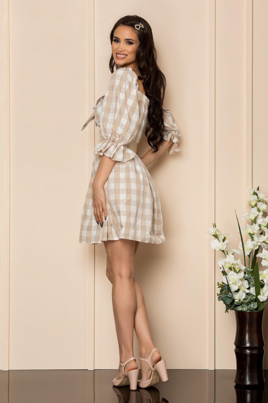 Nude Καρό Φόρεμα Mavis A430 2