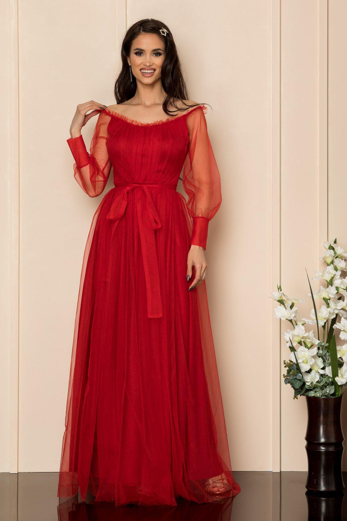 Κόκκινο Μάξι Αμπιγιέ Φόρεμα Temptation A301 1