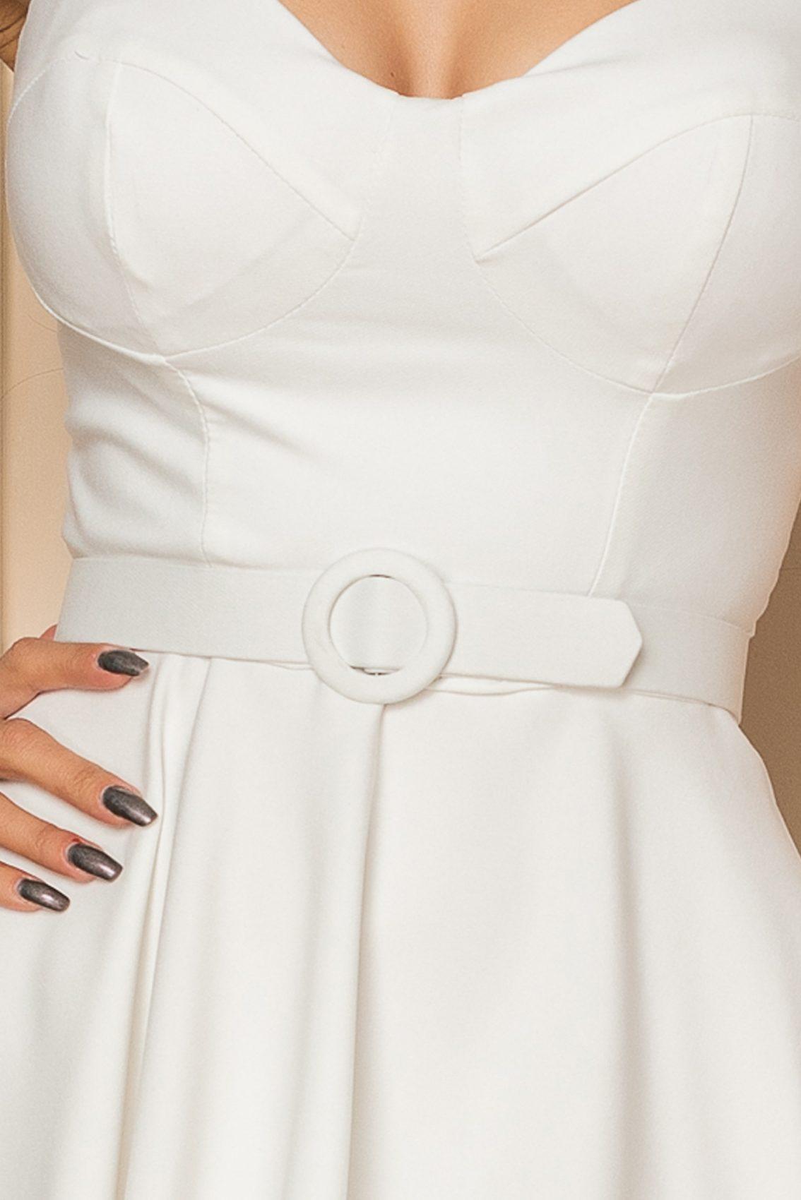 Λευκό Φόρεμα Με Τιράντες Alma A392 3