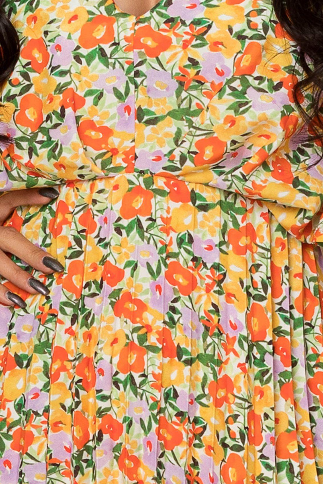 Μίντι Φόρεμα Με Κλος Μανίκι Jessica A347 3