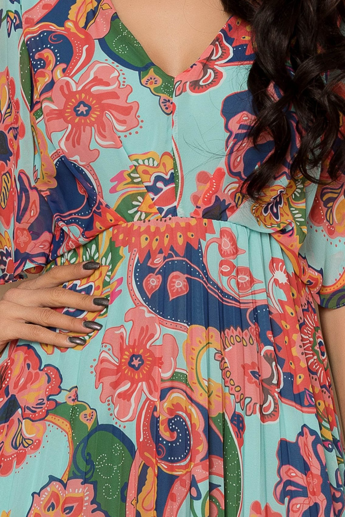Εμπριμέ Φόρεμα Με Κλος Μανίκι Bonita A354 3