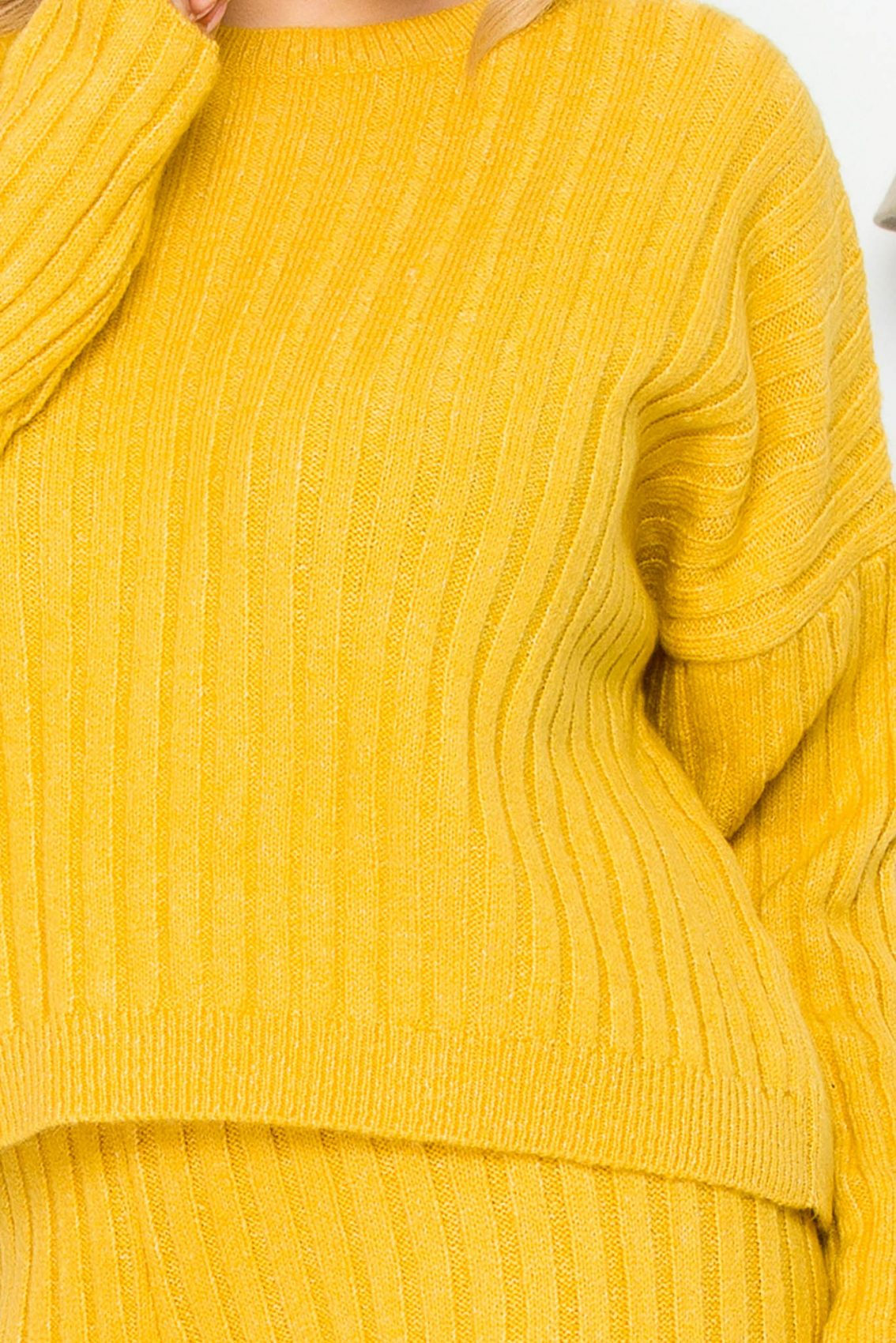 Κίτρινο Πλεκτό Σετ Arely 9265 2