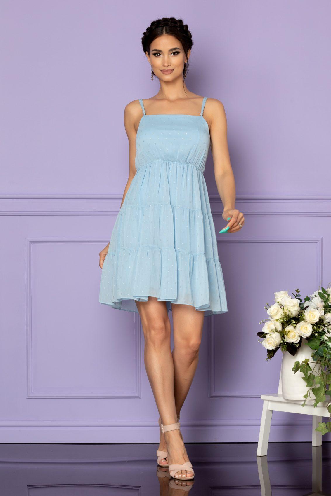 Γαλάζιο Φόρεμα Κλος Ema A604 1