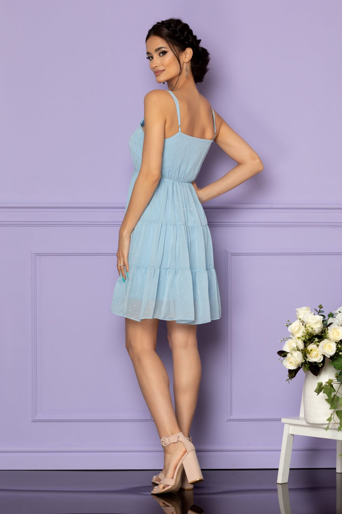 Γαλάζιο Φόρεμα Κλος Ema A604 2