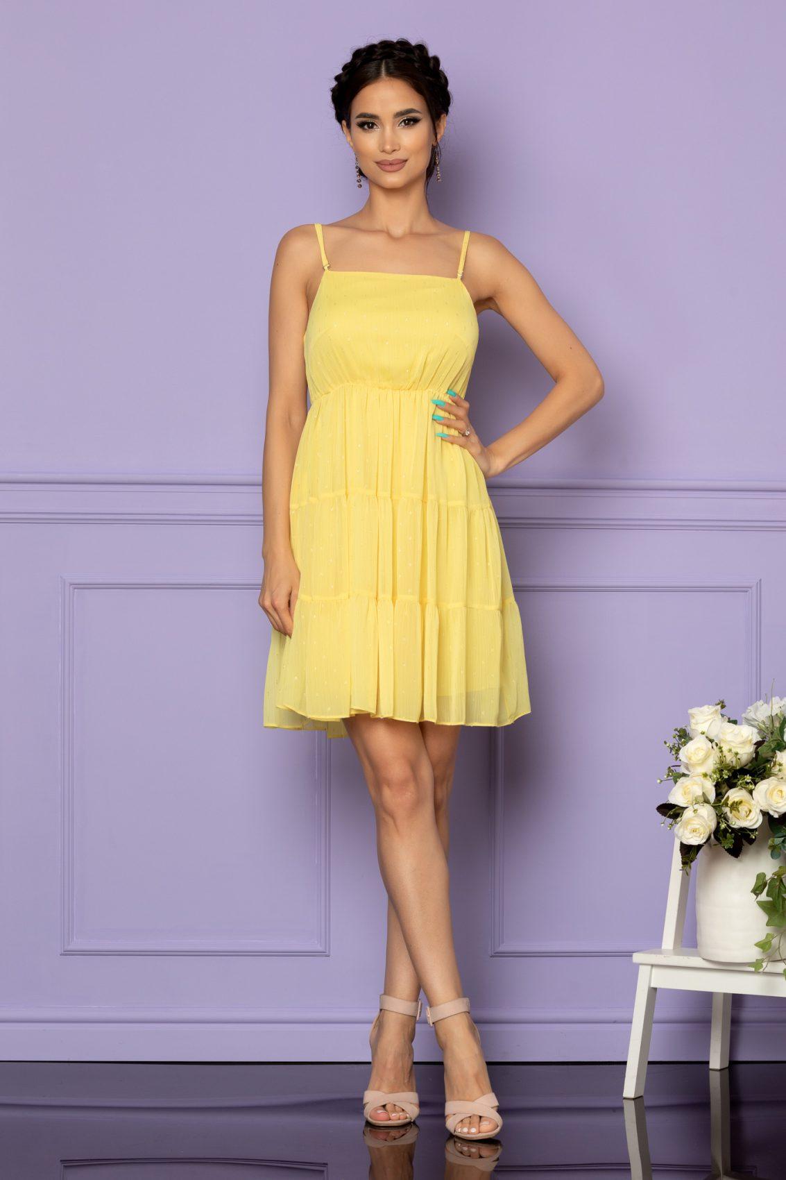 Κίτρινο Φόρεμα Κλος Ema A605 1