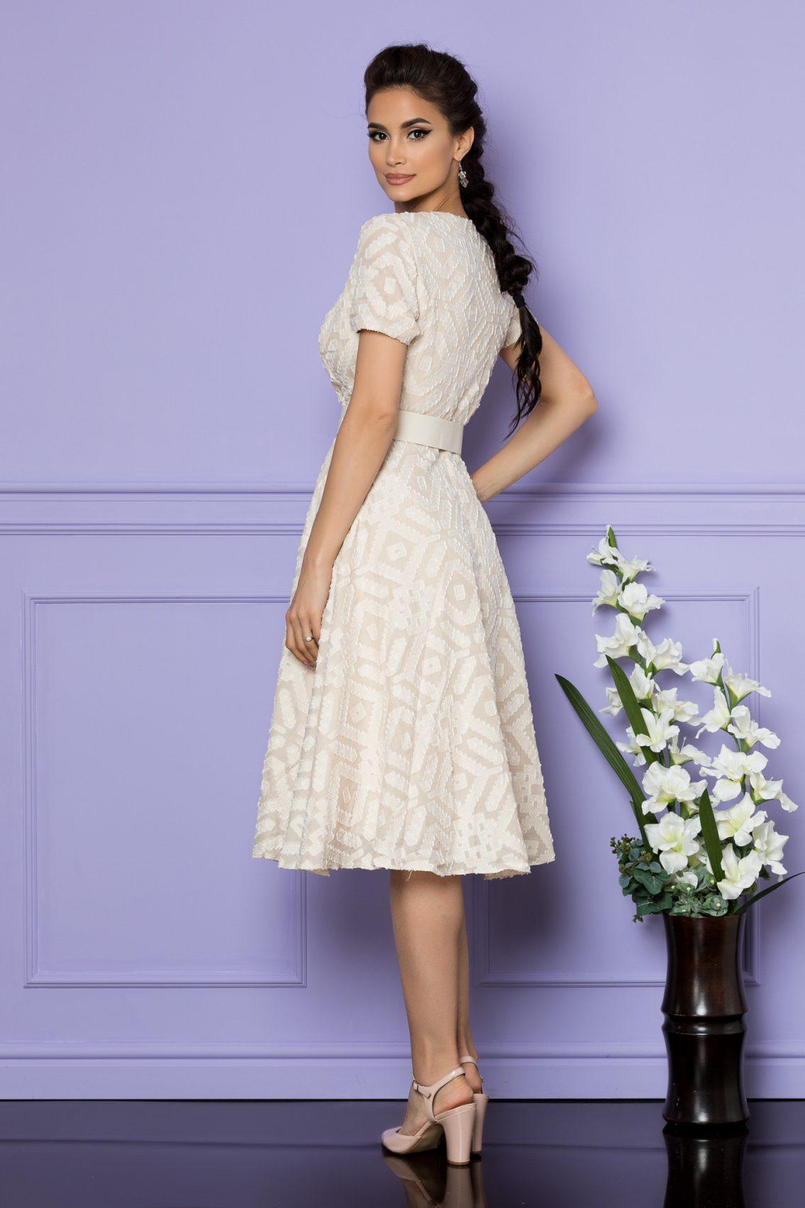 Nude Μίντι Κρουαζέ Φόρεμα Patricia A716 2