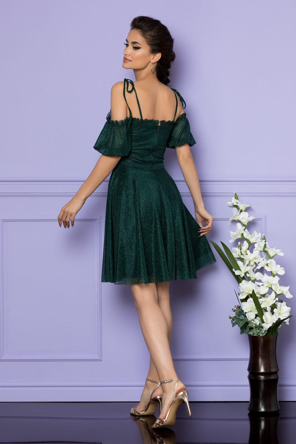 Πράσινο Μίνι Αμπιγιέ Φόρεμα Sonique A671 2