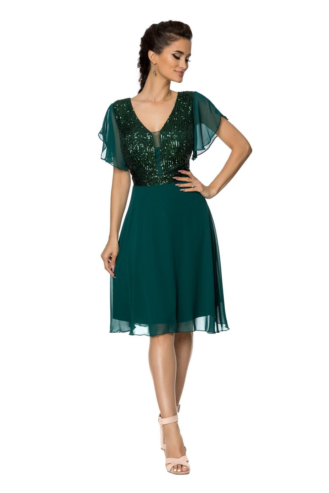 Πράσινο Αμπιγιέ Φόρεμα Viona A719 1