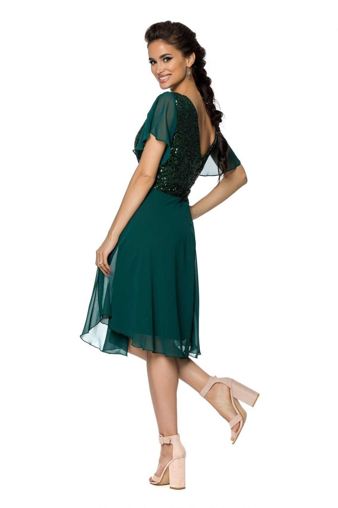 Πράσινο Αμπιγιέ Φόρεμα Viona A719 2