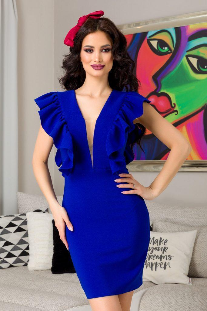 Μπλε φόρεμα 4