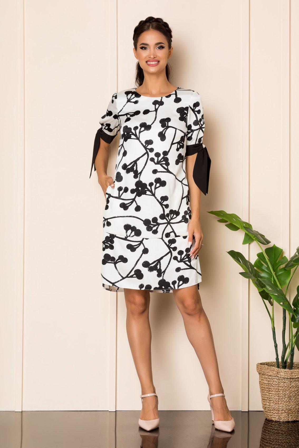Ασπρόμαυρο Φόρεμα Taylor A925 1