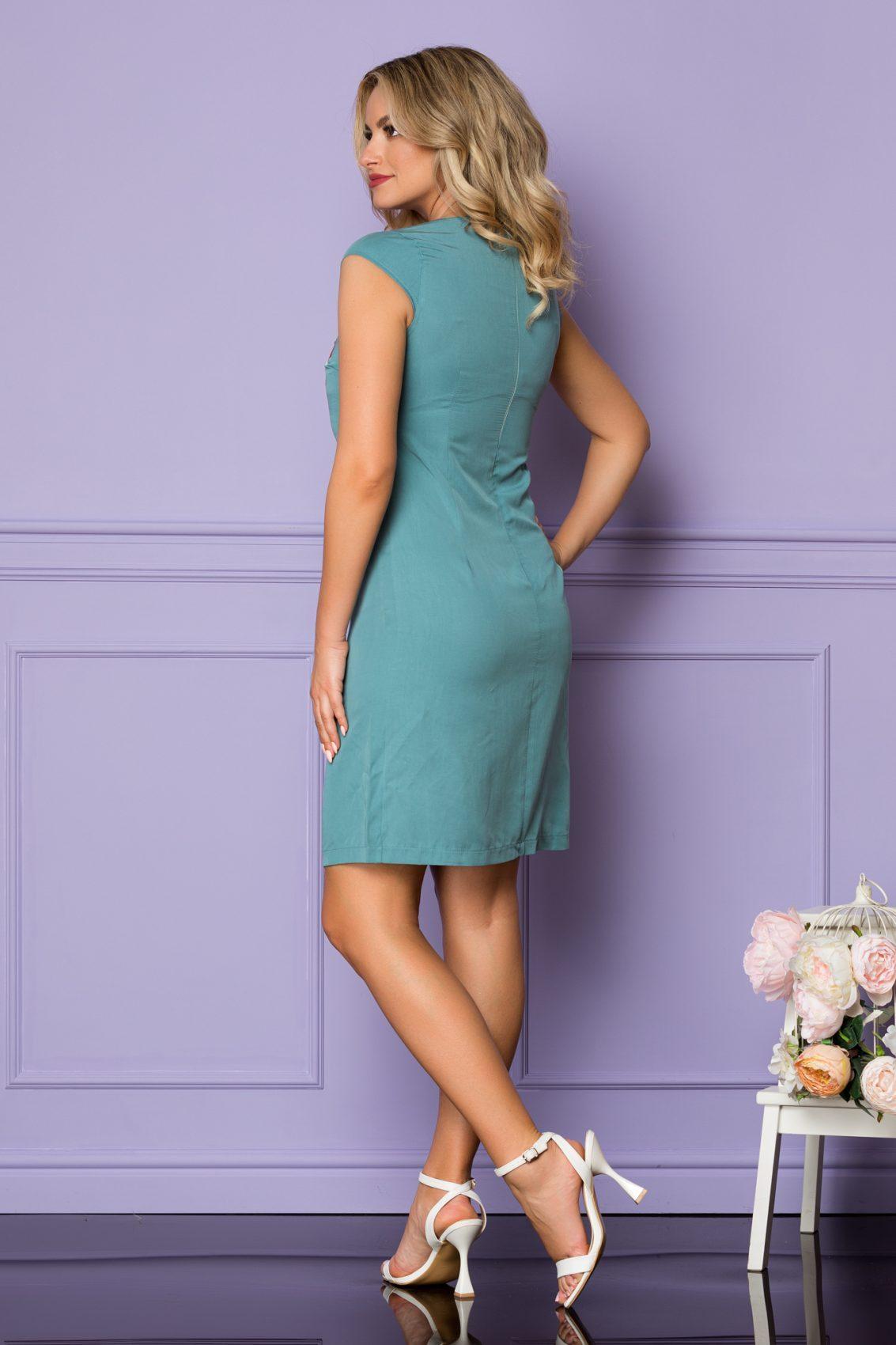 Τυρκουάζ Φόρεμα Danika A1119 2