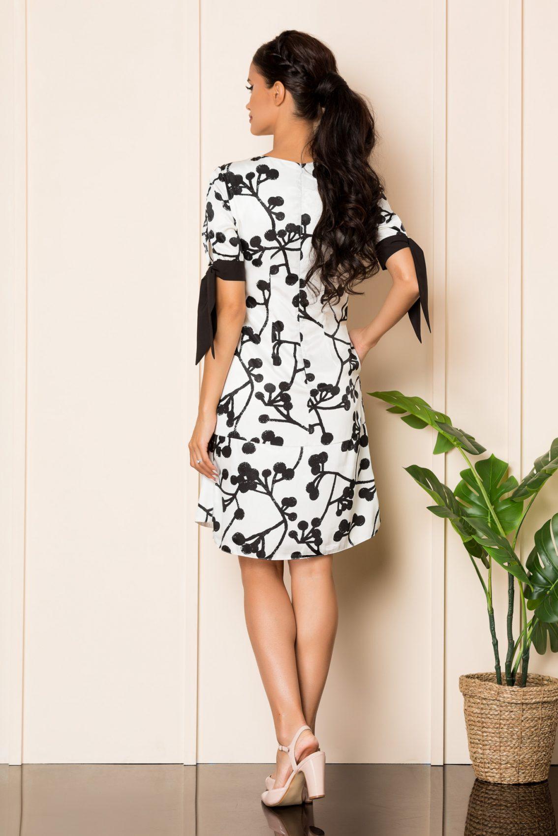 Ασπρόμαυρο Φόρεμα Taylor A925 2