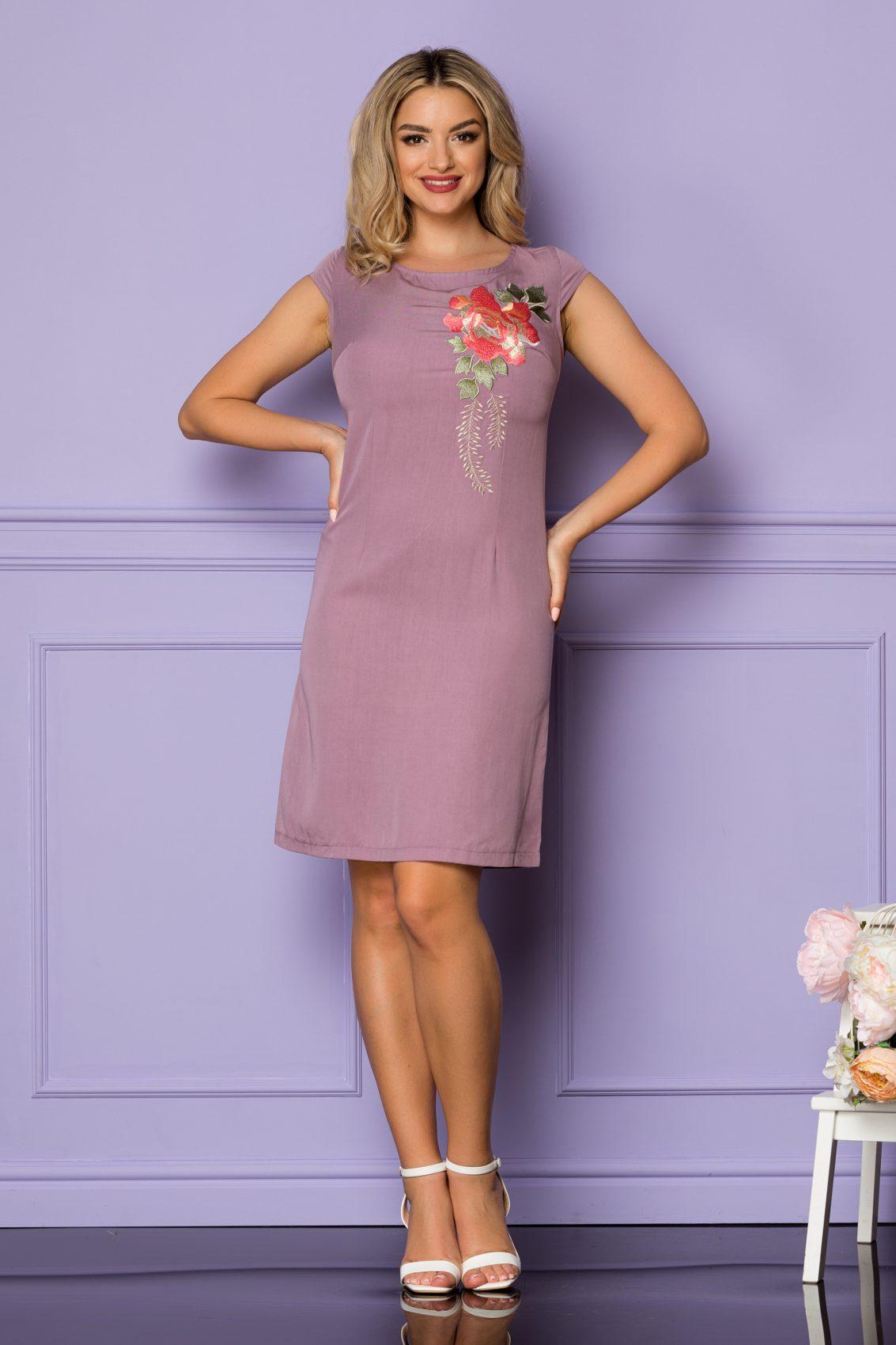 Λιλά Φόρεμα Danika A1120 1