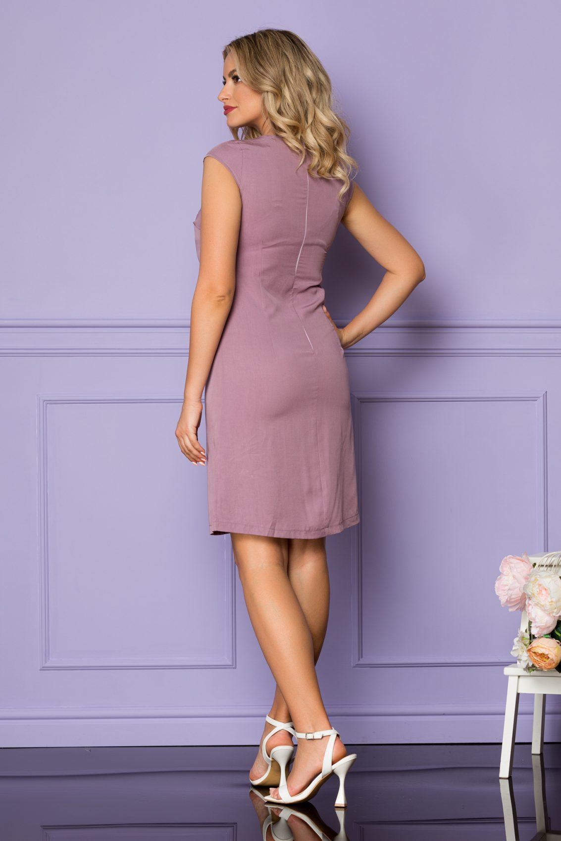 Λιλά Φόρεμα Danika A1120 2