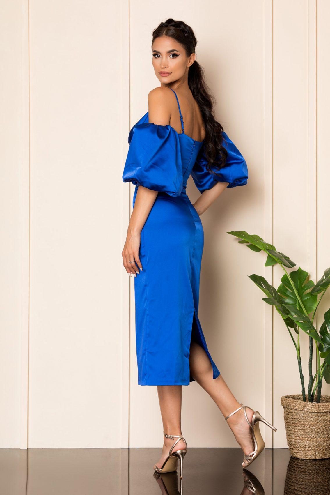 Μπλε Ρουά Σατέν Αμπιγιέ Φόρεμα Destiny A854 2