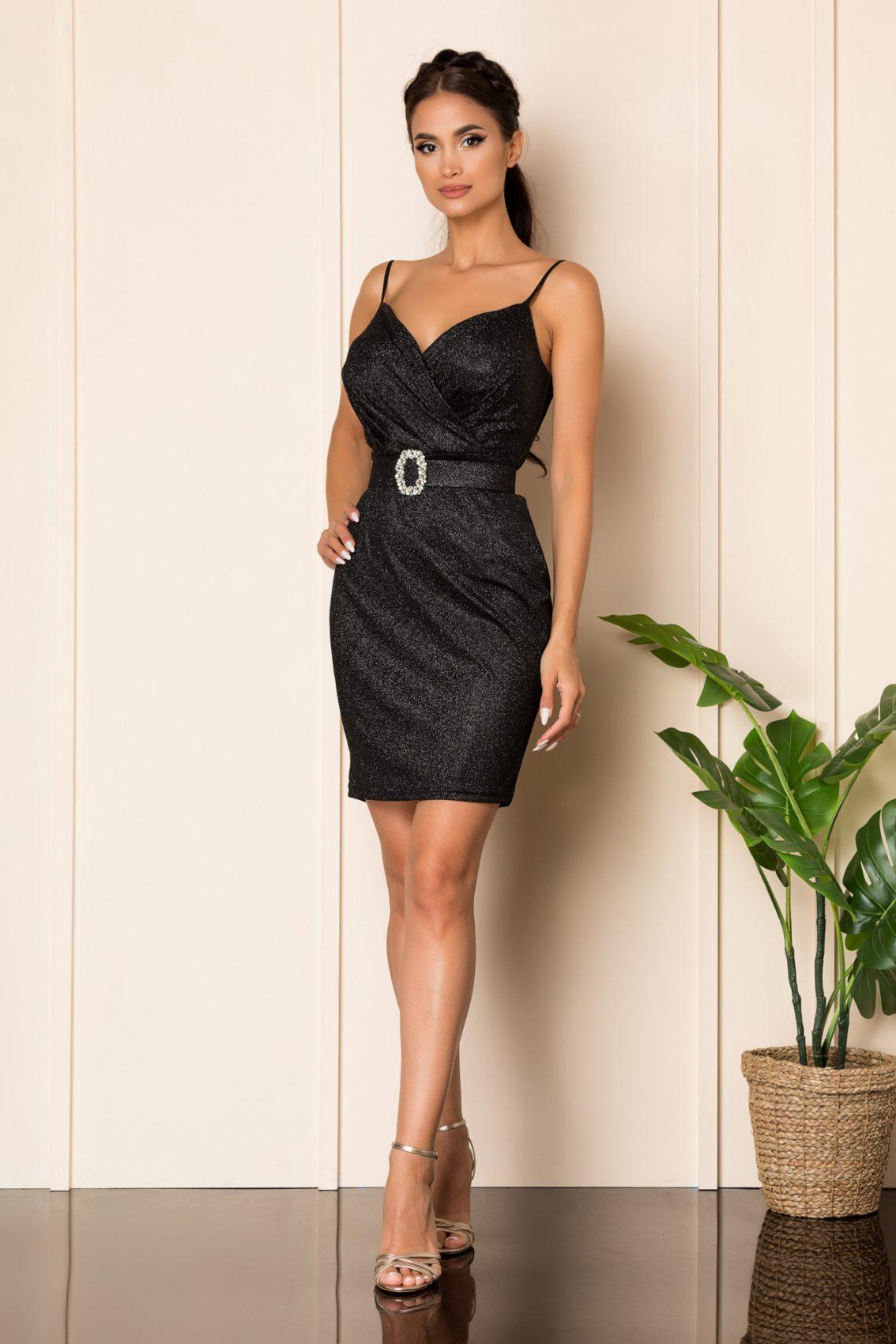 Μίνι Μαύρο Φόρεμα Kyana A934 1
