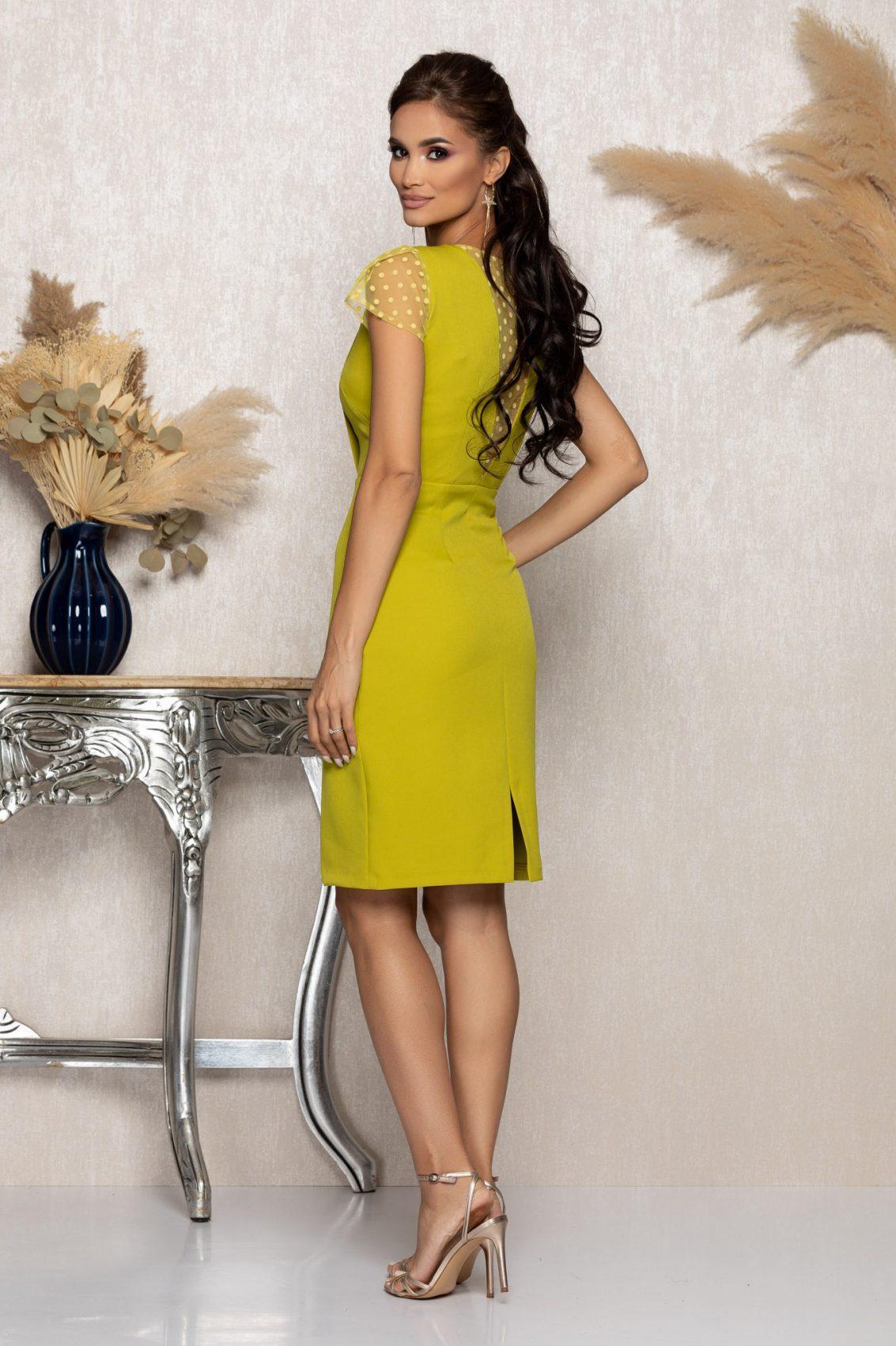 Λάιμ Αμπιγιέ Φόρεμα Με Τούλι Catalina A1050 2