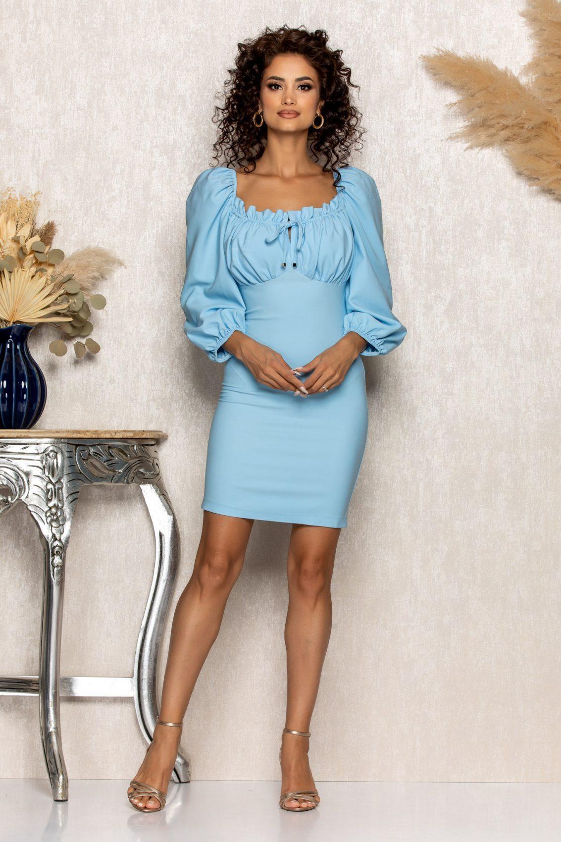 Γαλάζιο Φόρεμα Sabina A547 1