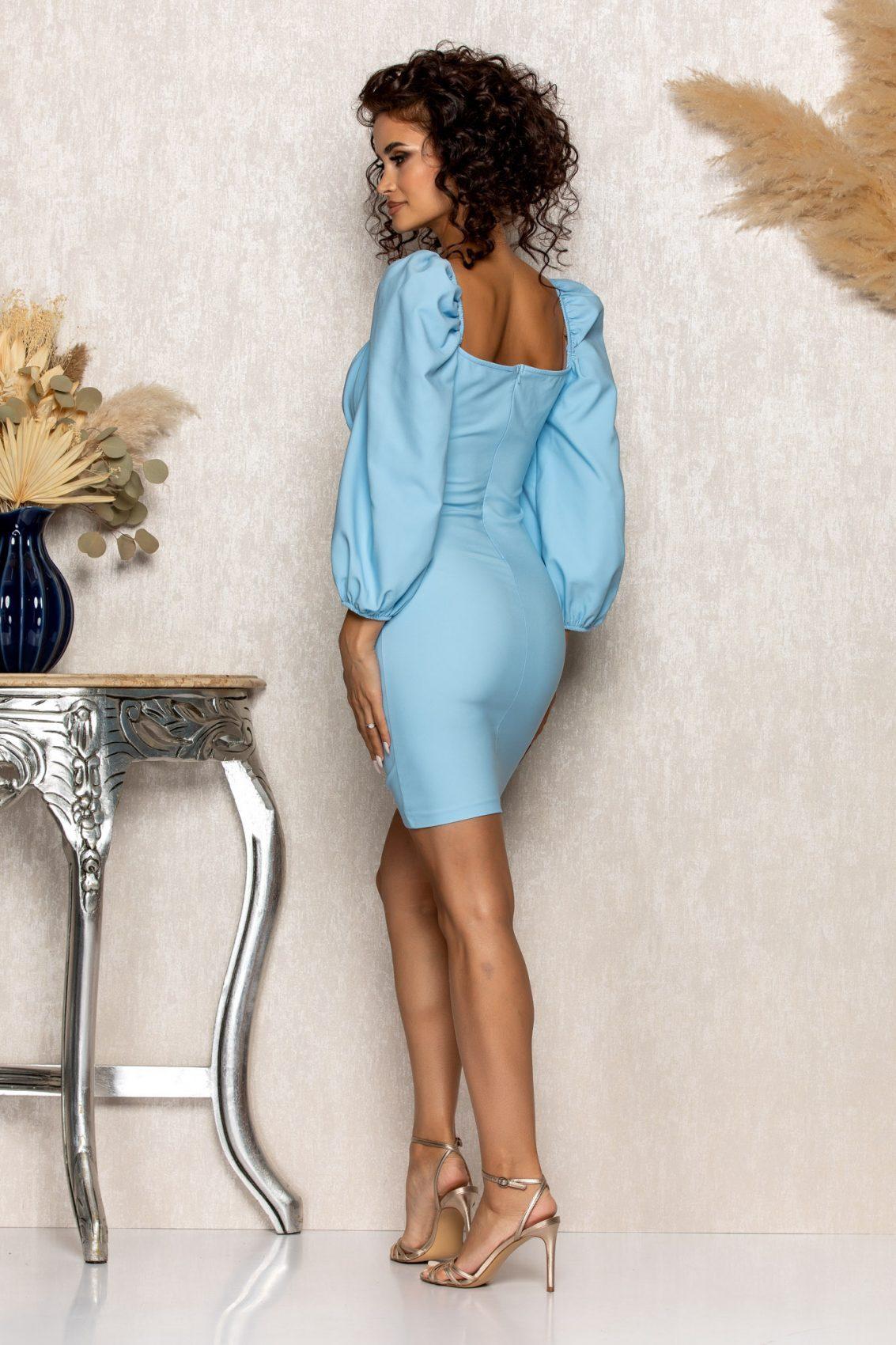 Γαλάζιο Φόρεμα Sabina A547 2
