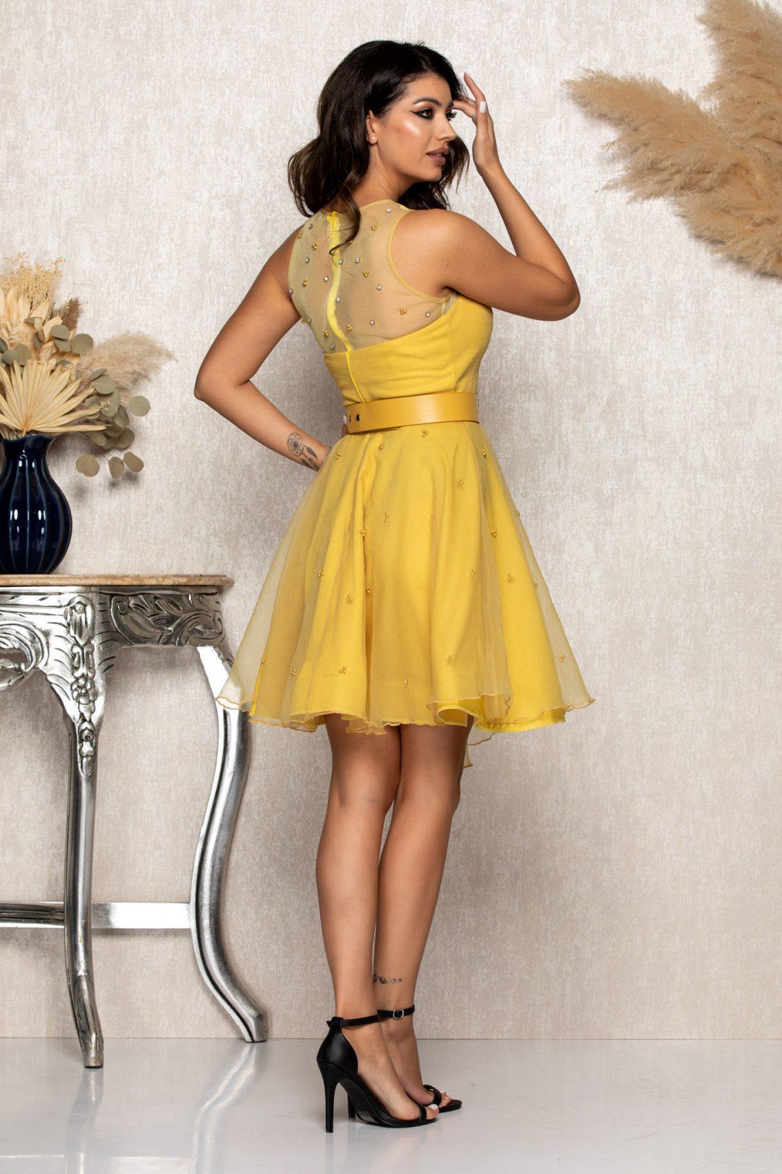 Κίτρινο Φόρεμα Mirry A191 2
