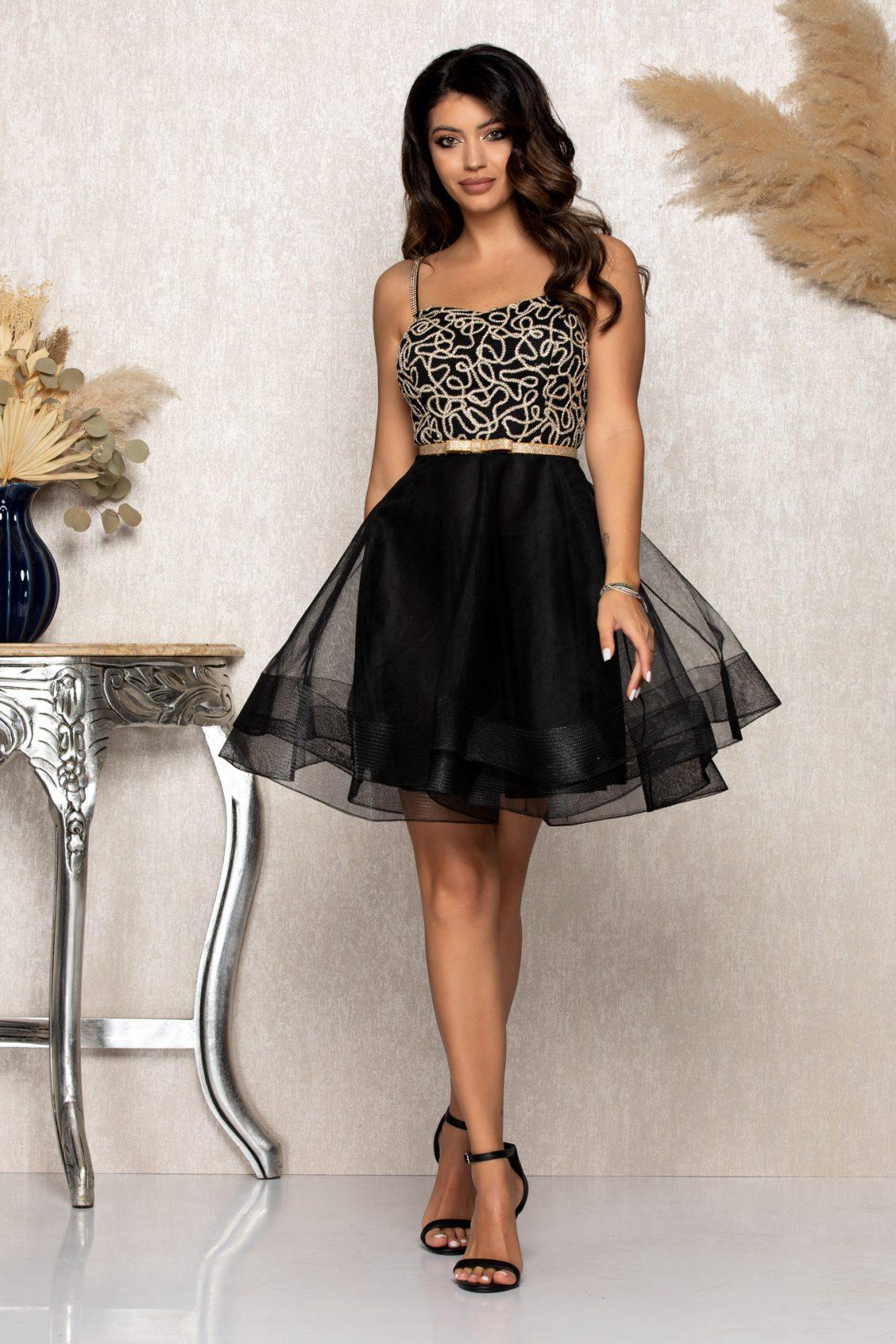 Μαύρο Αμπιγιέ Φόρεμα Dolly B175 1