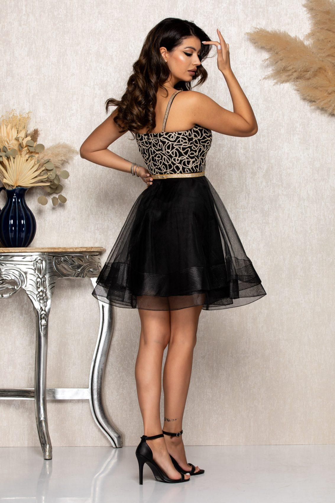 Μαύρο Αμπιγιέ Φόρεμα Dolly B175 2