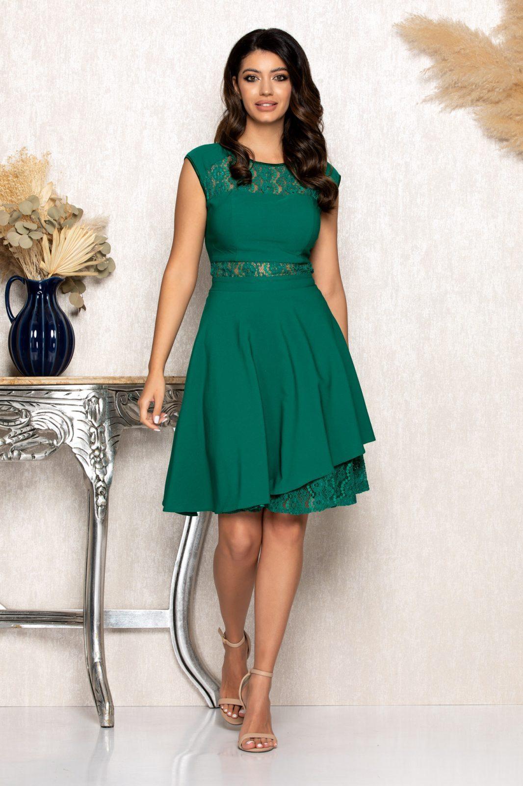 Πράσινο Αμπιγιέ Φόρεμα Με Δαντέλα Phoebe B134 1