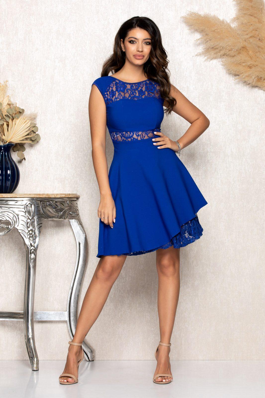 Μπλε Ρουά Αμπιγιέ Φόρεμα Με Δαντέλα Phoebe B133 1