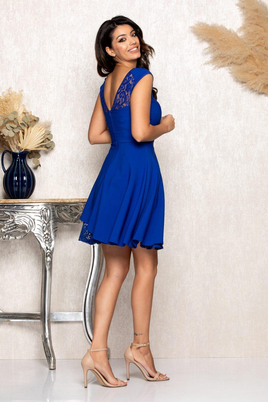 Μπλε Ρουά Αμπιγιέ Φόρεμα Με Δαντέλα Phoebe B133 2
