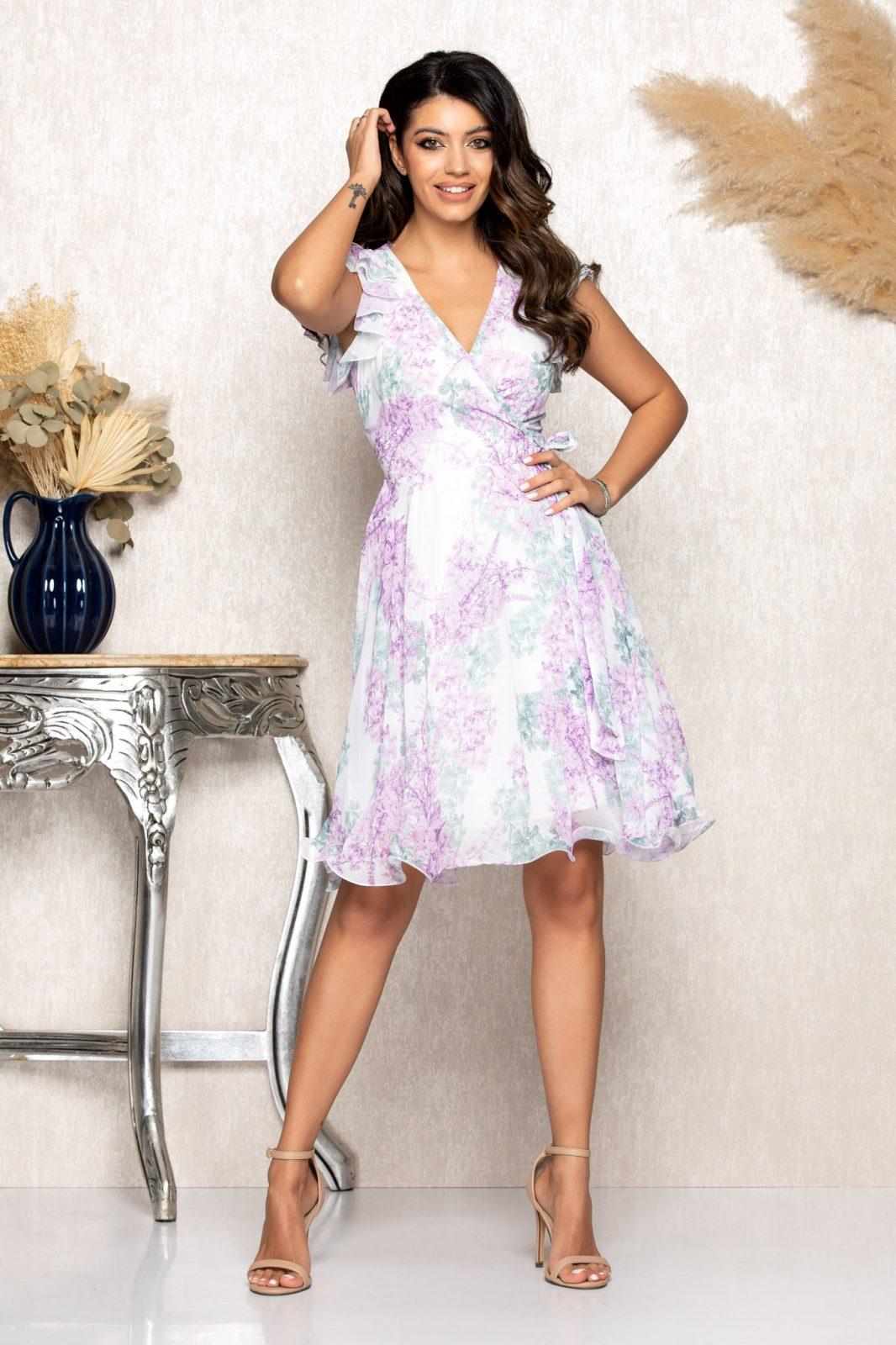 Λιλά Κρουαζέ Φόρεμα Heidy B141 1