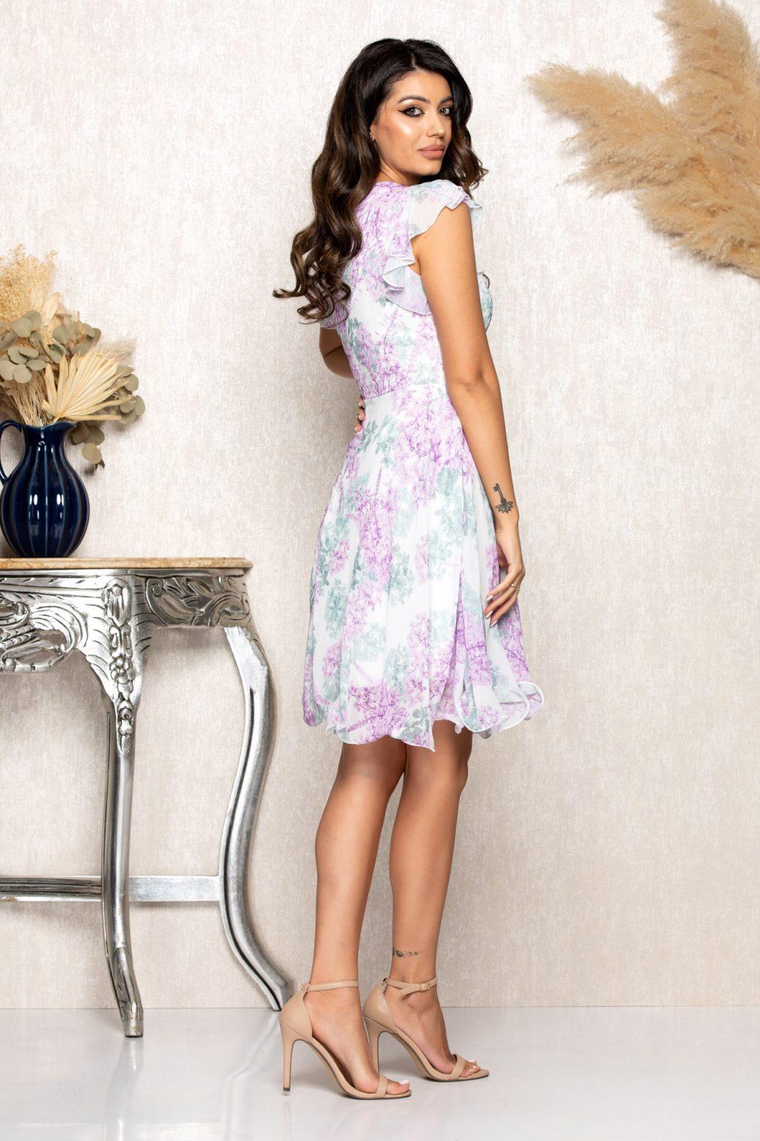 Λιλά Κρουαζέ Φόρεμα Heidy B141 2