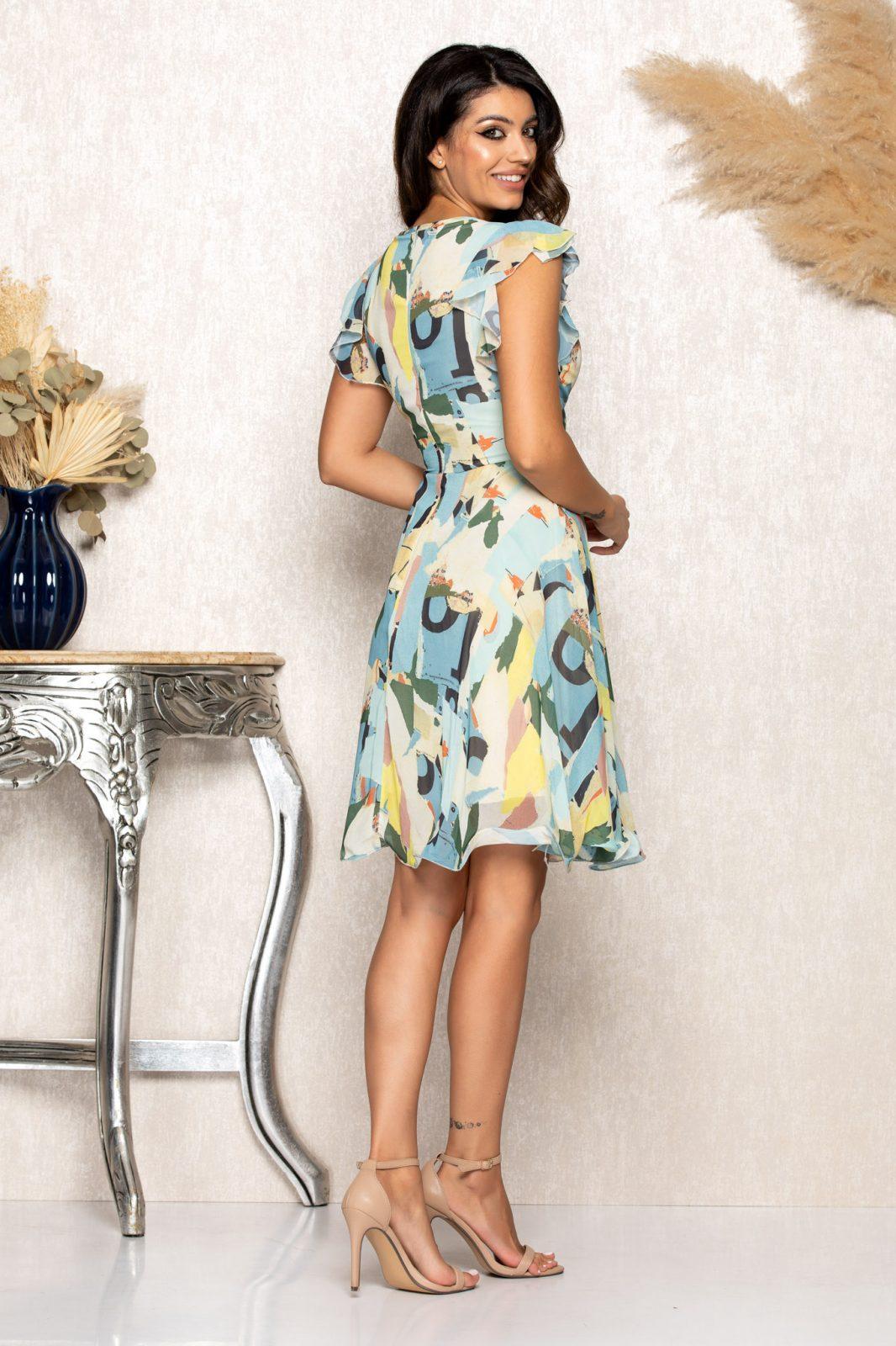 Εμπριμέ Κρουαζέ Φόρεμα Heidy B144 2