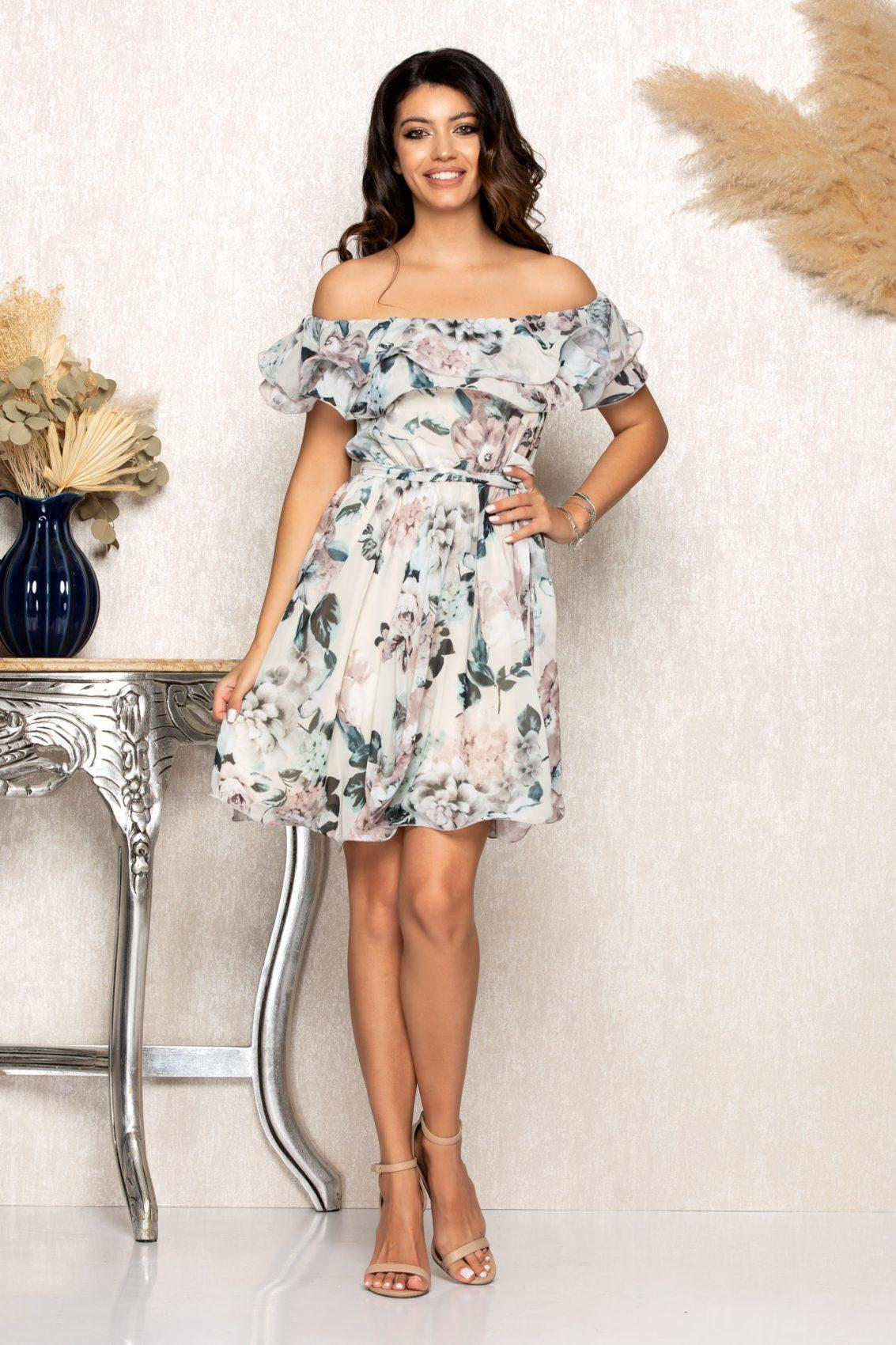 Nude Φλοράλ Φόρεμα Beatrice B117 1