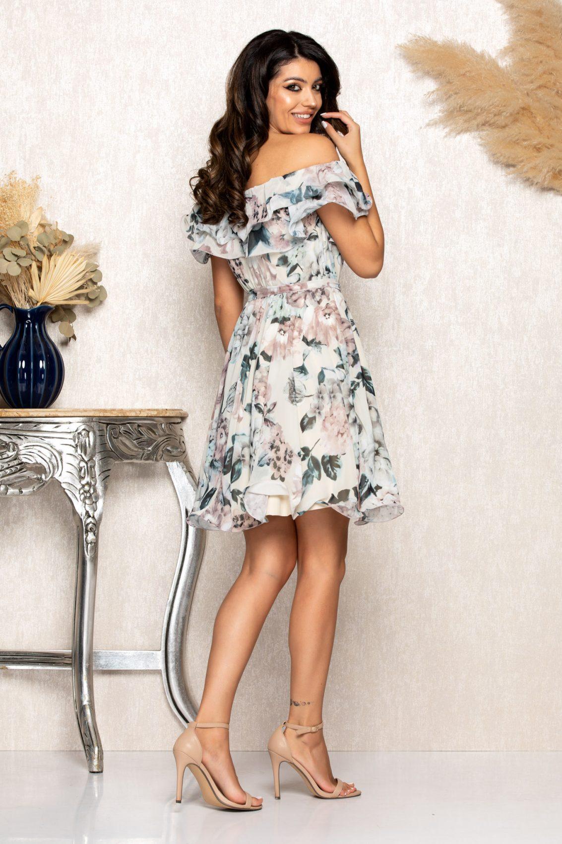Nude Φλοράλ Φόρεμα Beatrice B117 2