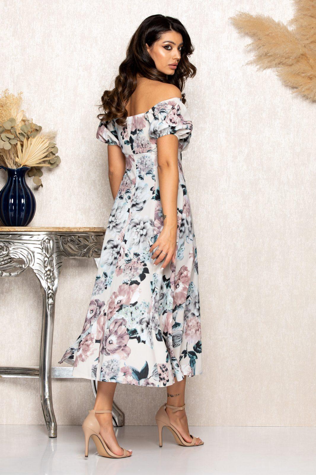 Nude Μίντι Φλοράλ Φόρεμα Rory B150 2