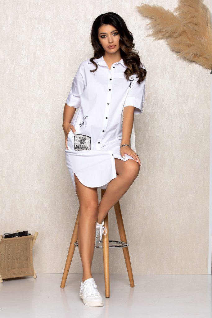 Σεμιζιέ φορέματα   Φορέματα με κουμπιά 1