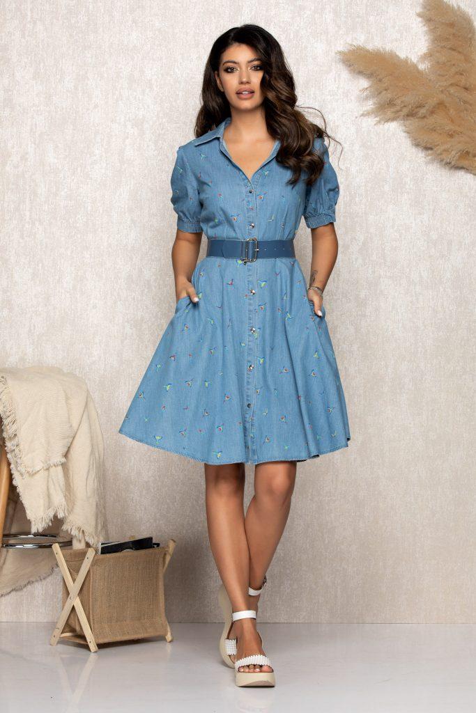 Σεμιζιέ φορέματα   Φορέματα με κουμπιά 10
