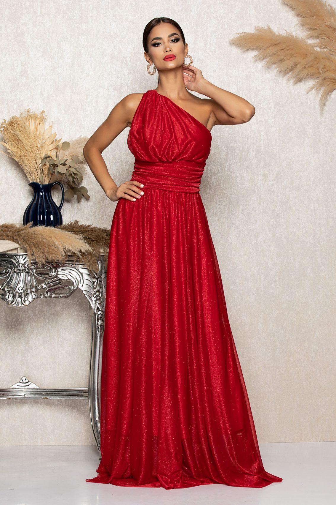 Κόκκινο Μάξι Αμπιγιέ Φόρεμα Divissima A1052 1