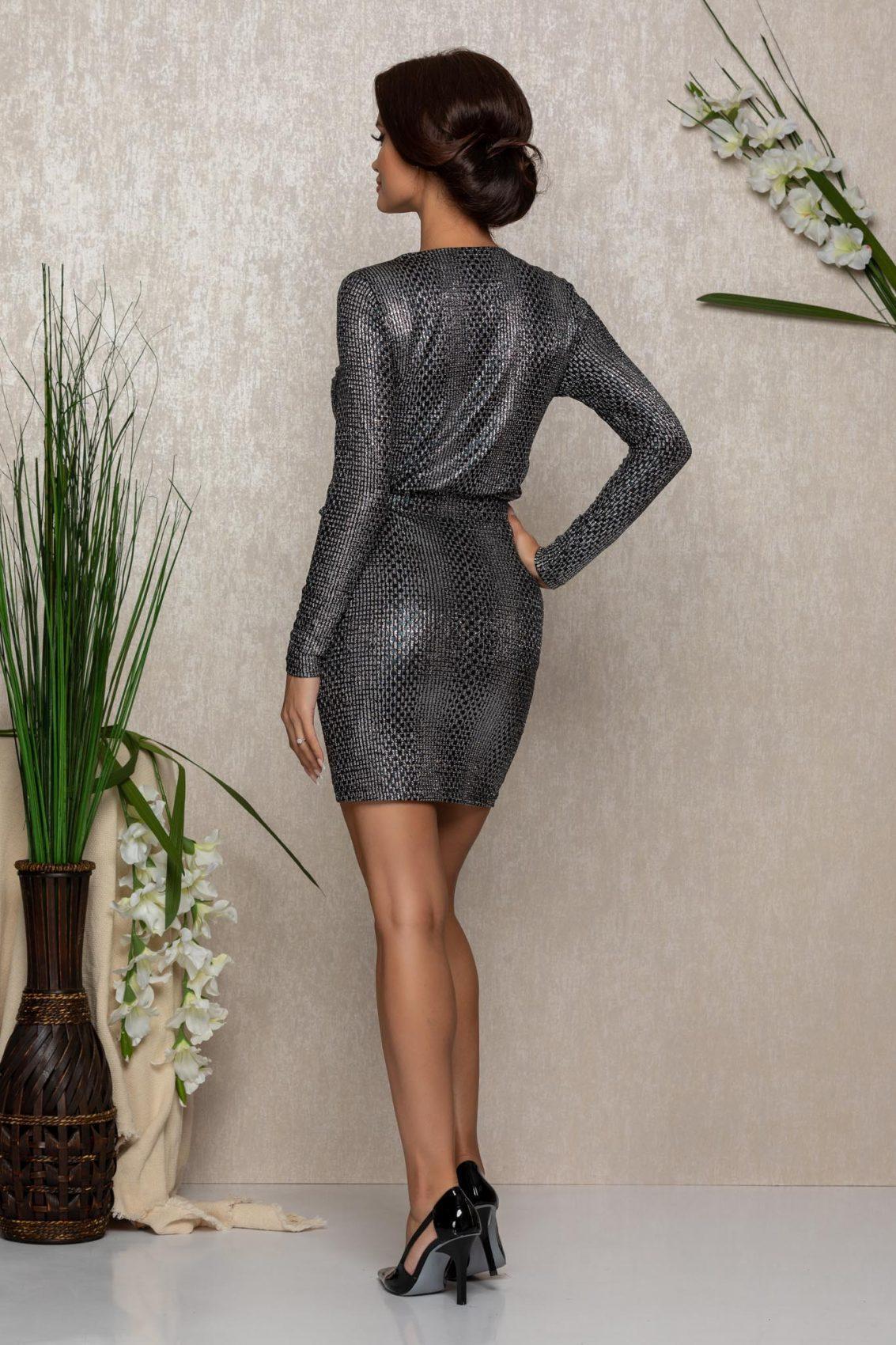 Ασημί Μίνι Φόρεμα Brya 1071 2