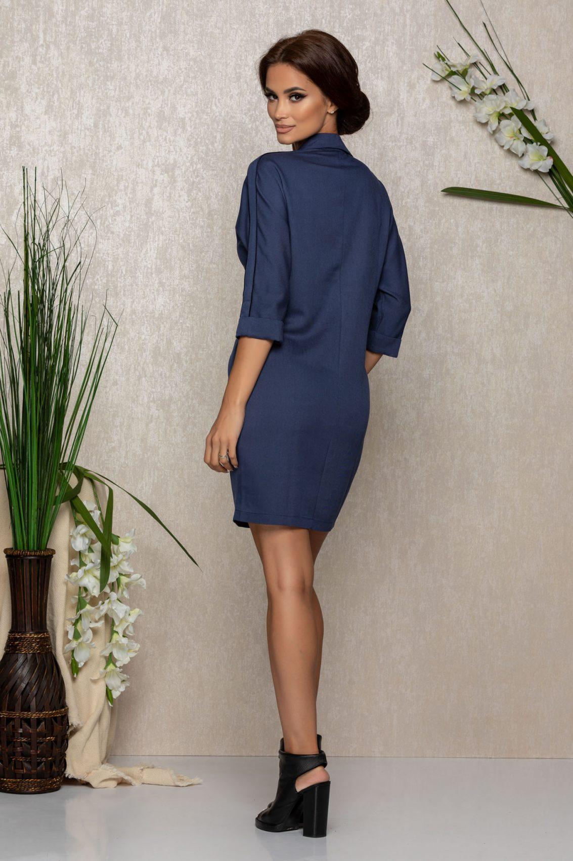 Μπλε Φόρεμα Lorina 9161 2