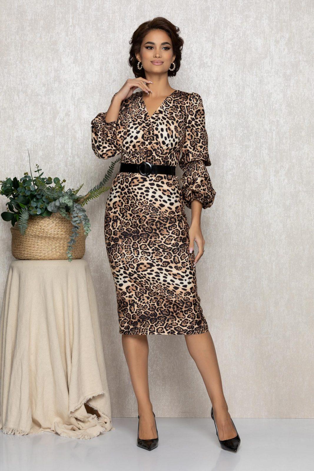 Λεοπάρ Μίντι Φόρεμα Martha T157 1