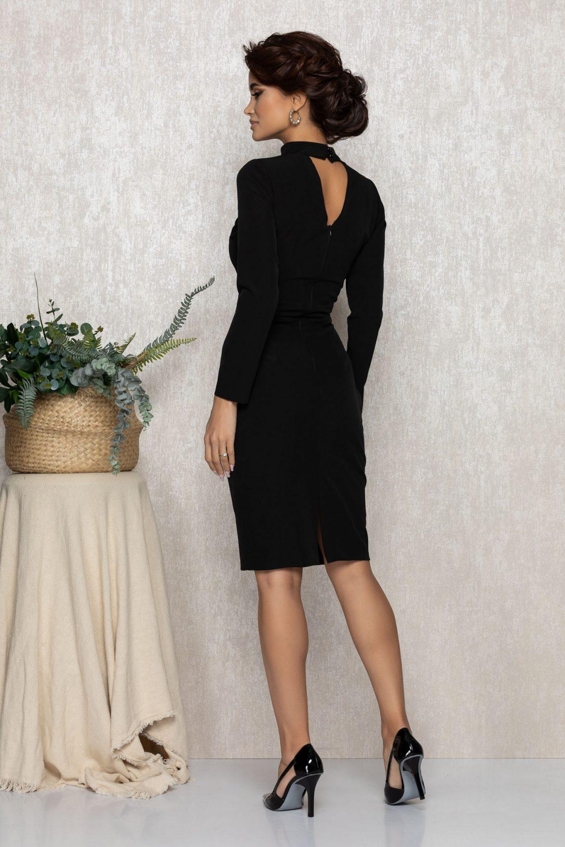 Μαύρο Βραδινό Φόρεμα Andrada T177 2