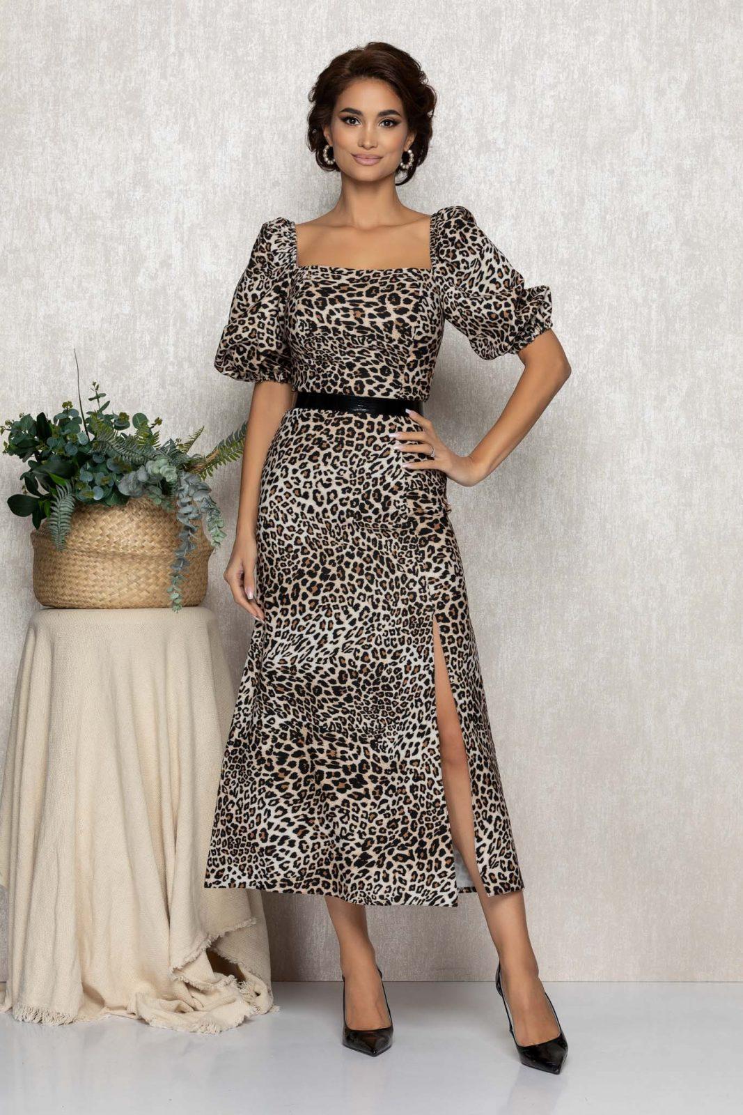 Λεοπάρ Μίντι Φόρεμα Tyanna T165 1