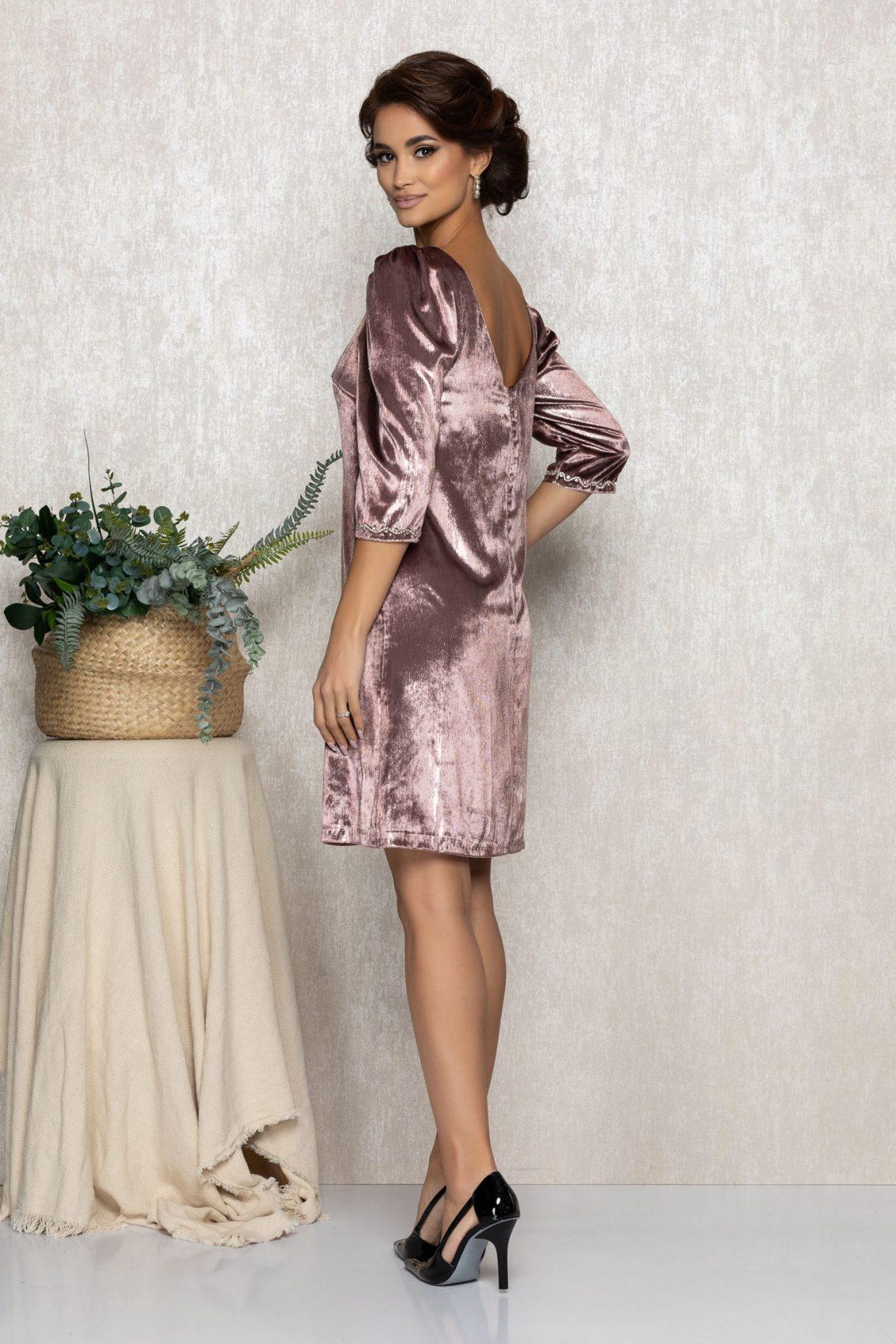 Λιλά Φόρεμα Από Βελούδο Nikita T225 2