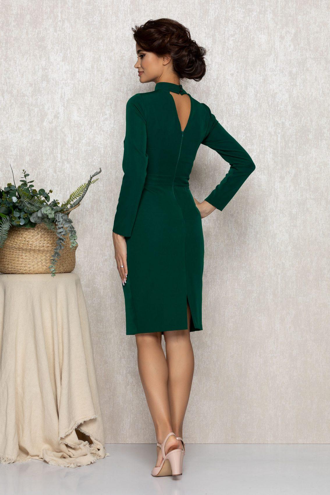 Πράσινο Βραδινό Φόρεμα Andrada T189 2